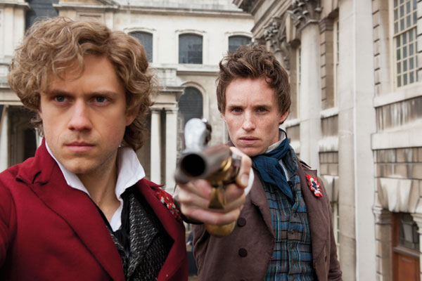 Les Miserables Aaron Tveit and Eddie Redmayne